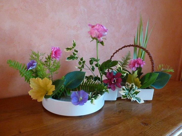 Avec les fleurs du jardin...