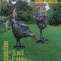 Pierre Treilhes : Sculptures métalliques dans les jardins (GIROUSSENS, 81)