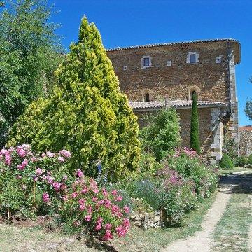 Jardin de l 39 abbaye de valsaintes simiane la rotonde 04 for Jardin de jardiniers