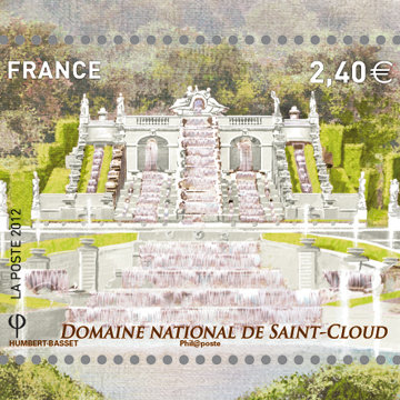 Philat lie timbres des jardins de st cloud for Jardin porte de saint cloud