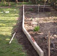 Am nagement du potager faire une bordure - Comment poser des bordures de jardin en beton ...