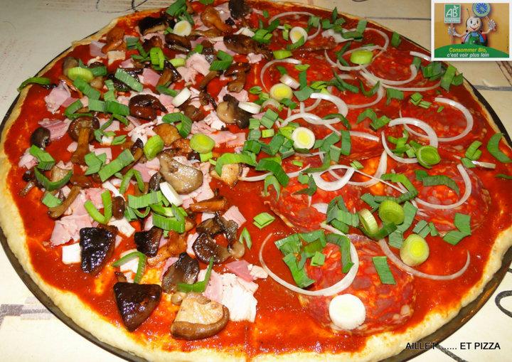 Aillet et pizza