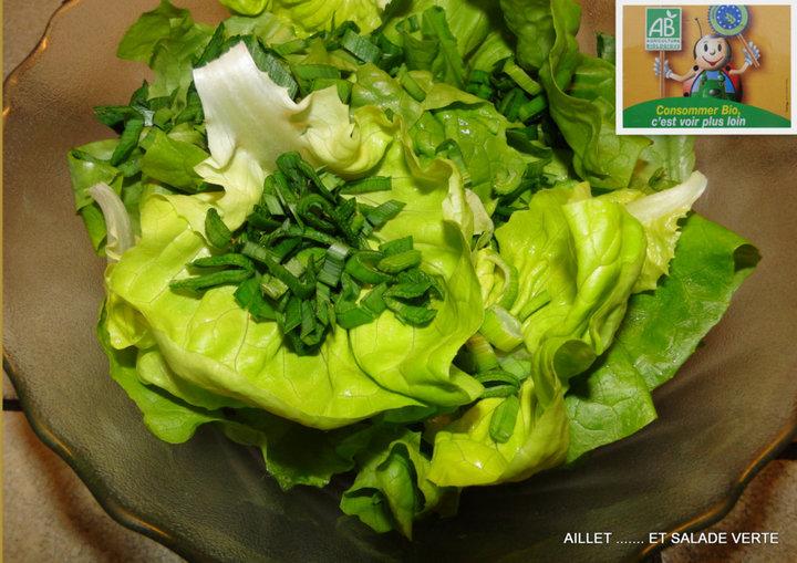Aillet et salade