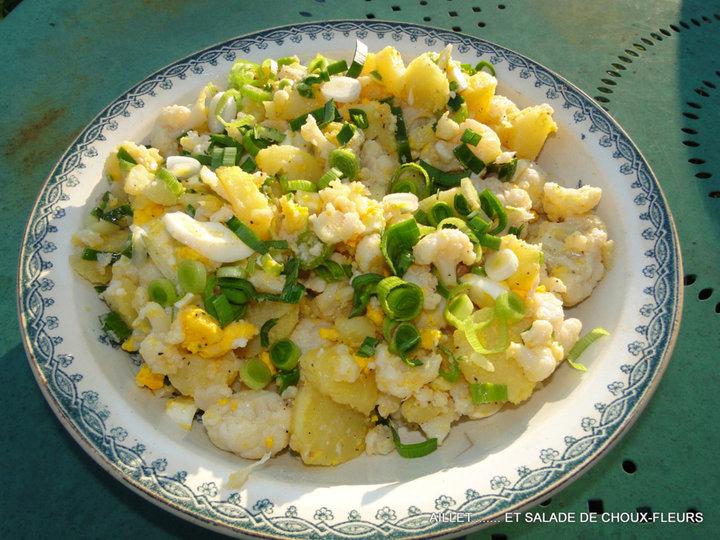 Aillet et salade de choux fleurs