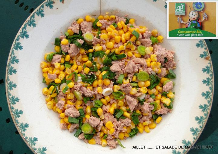 Aillet et salade de maïs