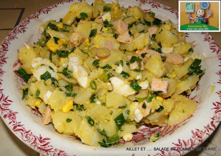 Aillet et salade de pomme de terre