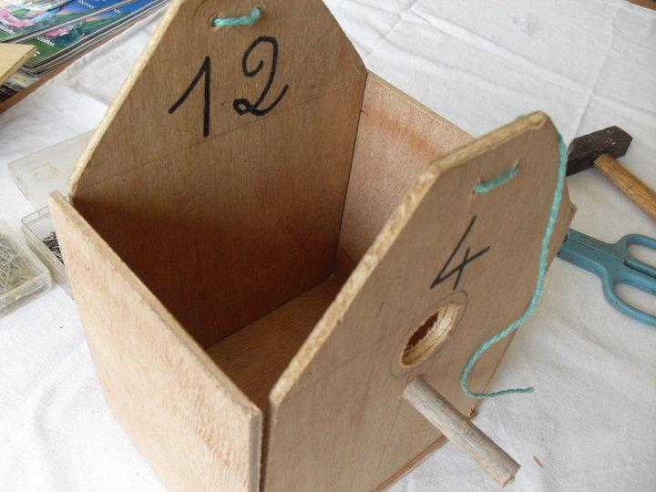 Construction du corps du nichoir