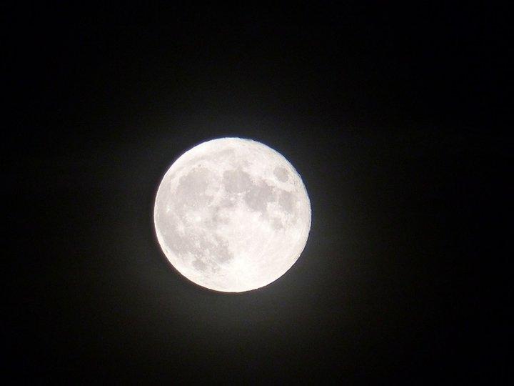 La lune un soir dans le Berry