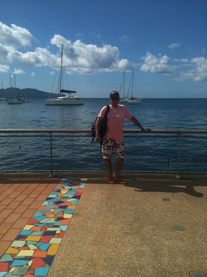 Moi sur le port de Fort de France