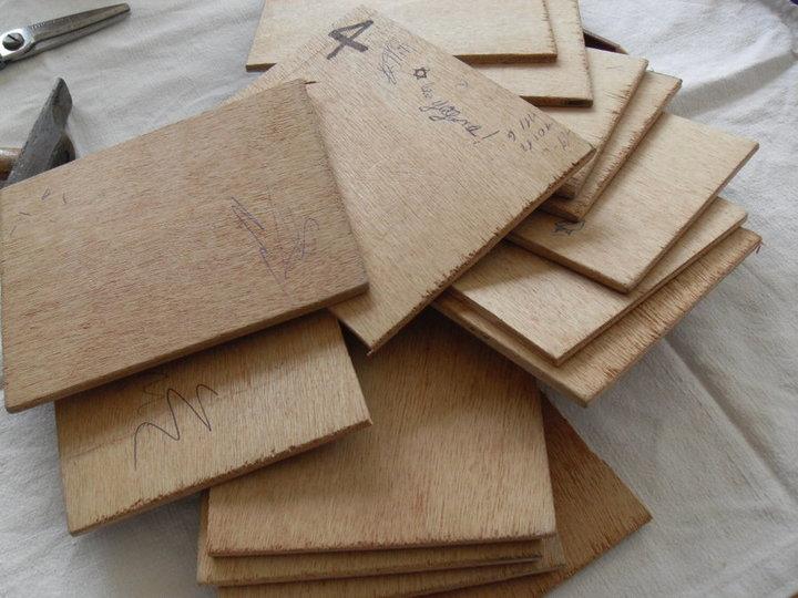 Plaquettes de bois de récupe