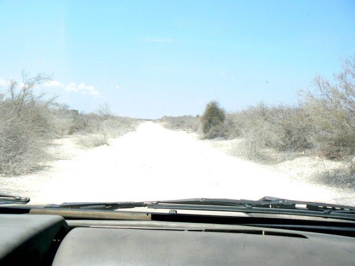 Route de pousière.