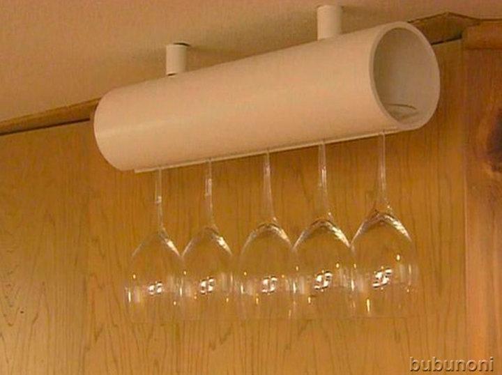 Support pour verres à vin