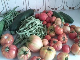 Beau panier de légumes