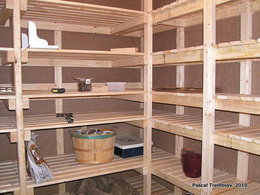 Chambre froide pour conserver les légumes - Plan