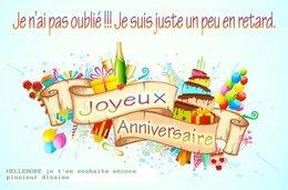 Bon anniversaire . . .