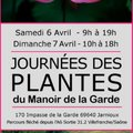Journées des plantes rares du Manoir de la Garde (JARNIOUX, 69)