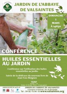 Conférénce : L'utilisation des huiles essentielles au jardin