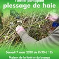 Atelier participatif : le plessage d'une haie (SAINT MARTIN EN BRESSE, 71)