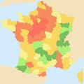 Les grandes zones climatiques en France
