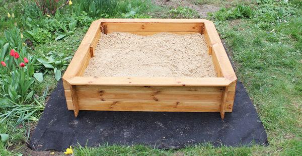 Choisir un bon emplacement pour le bac à sable