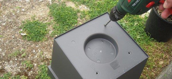 Faire évacuer l'eau en excès dans le sol