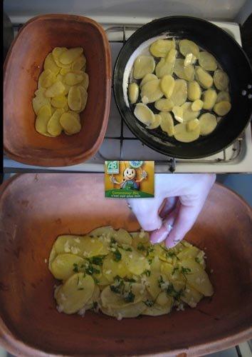 Etape 6 : préparation des pommes de terre