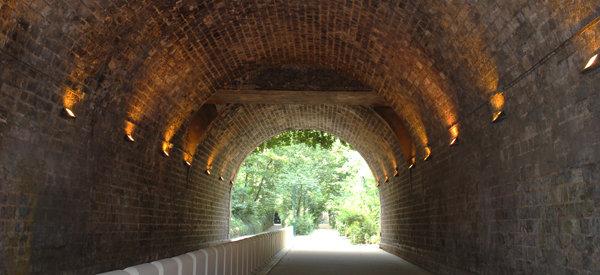Tunnels qui se fondent dans la végétation